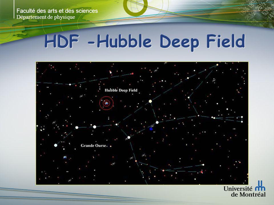 Faculté des arts et des sciences Département de physique HDF -Hubble Deep Field