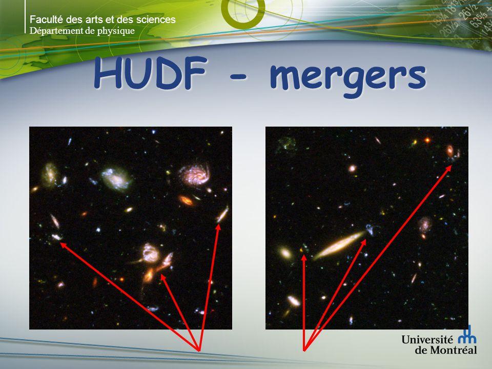 Faculté des arts et des sciences Département de physique HUDF - mergers