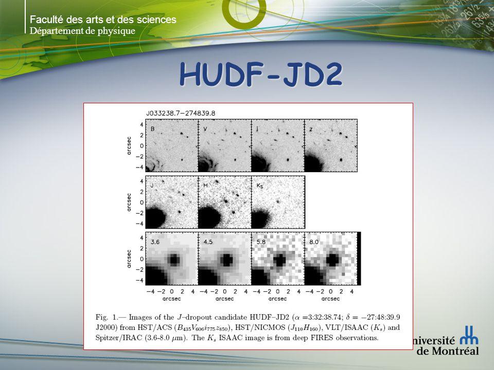Faculté des arts et des sciences Département de physique HUDF-JD2