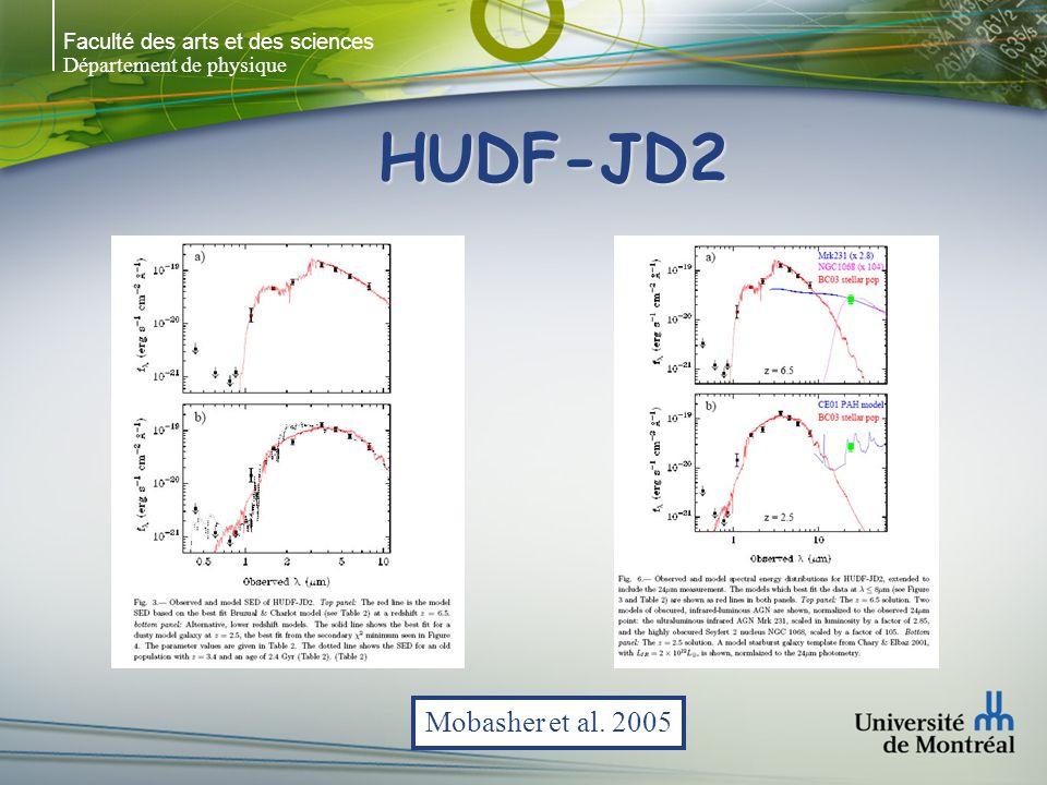 Faculté des arts et des sciences Département de physique HUDF-JD2 Mobasher et al. 2005