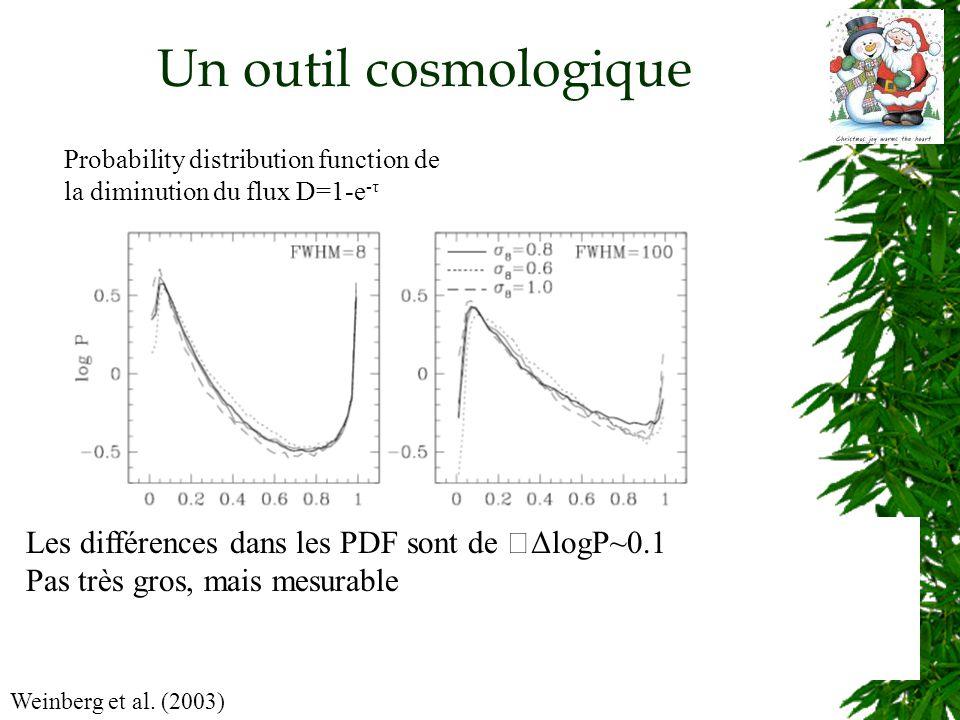 Un outil cosmologique Weinberg et al.