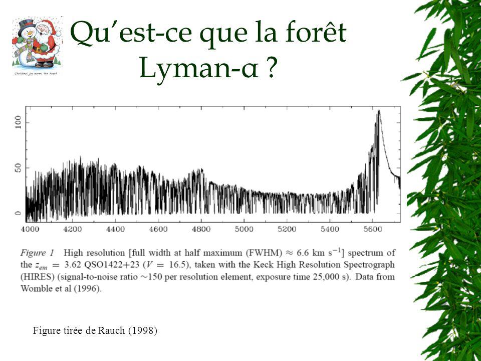 Quest-ce que la forêt Lyman-α Figure tirée de Rauch (1998)