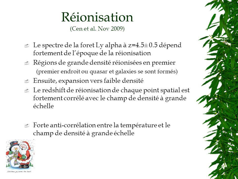 Réionisation (Cen et al.