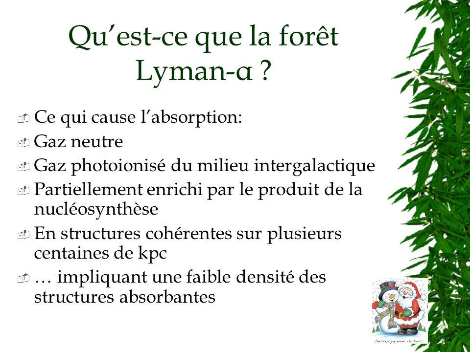 Quest-ce que la forêt Lyman-α .