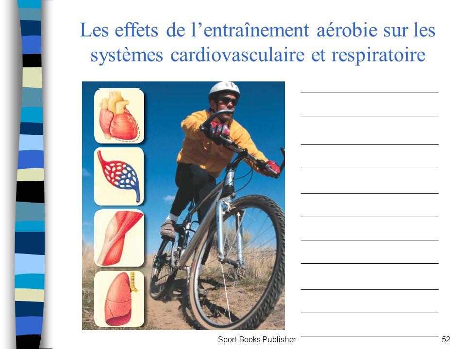 Sport Books Publisher52 Les effets de lentraînement aérobie sur les systèmes cardiovasculaire et respiratoire _____________________ __________________