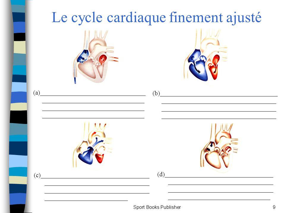 Sport Books Publisher10 Le cœur Pression sanguine : n Cest une importante mesure de la fonction cardiaque.