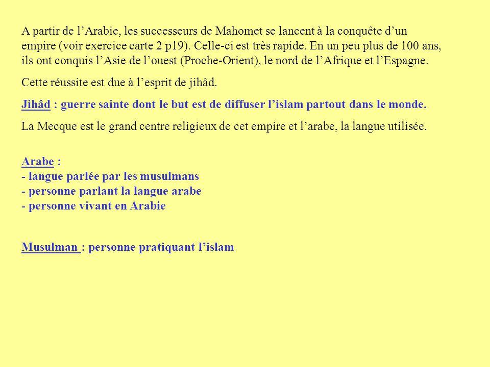 III La religion musulmane En même temps que se développe lempire musulman est rédigé le texte sacré des musulman : le coran.