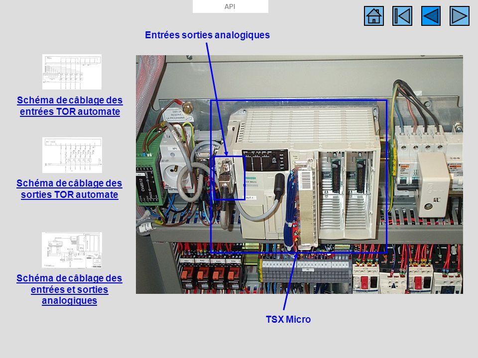 API Photo API TSX Micro Schéma de câblage des entrées TOR automate Schéma de câblage des sorties TOR automate TSX Micro Schéma de câblage des entrées