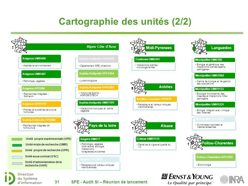 Alpes Côte dAzur 31 Pays de la loire Poitou-Charentes Midi-Pyrenees Alsace Antilles Cartographie des unités (2/2) Abeilles et environnement Avignon UM