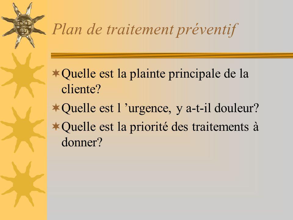 Traitements D.O.sur les « 6 »Conseils alimentaires Détartrage manuel Echantillon de plaque au microscope Traitement dorthodontie Endodontie ou traitem