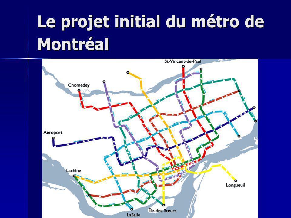 Le projet initial du métro de Montréal