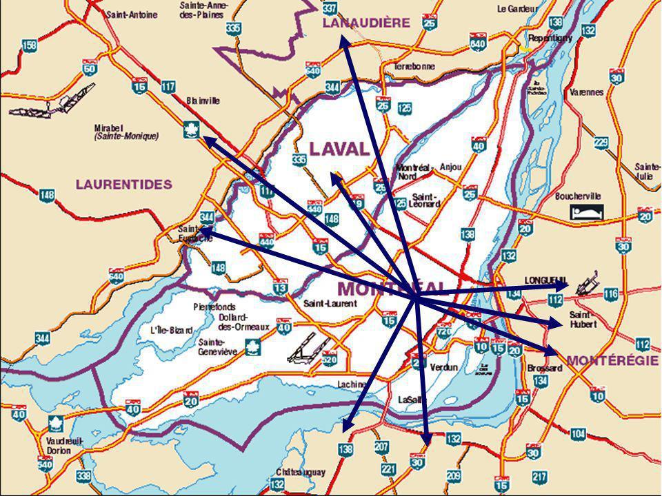 Le concept des TOD, marginal mais intéressant Favoriser le retour dans les grands centres urbains Favoriser le retour dans les grands centres urbains Densifier les centres-villes et développer le réseau de transport en commun Densifier les centres-villes et développer le réseau de transport en commun Favoriser les modes de transports non- motorisés (marche, vélo) Favoriser les modes de transports non- motorisés (marche, vélo) Exemples de TOD au Canada à Ottawa, à Vancouver et à Toronto Exemples de TOD au Canada à Ottawa, à Vancouver et à Toronto