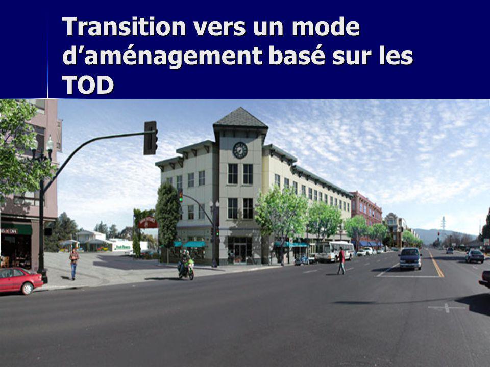 Transition vers un mode daménagement basé sur les TOD