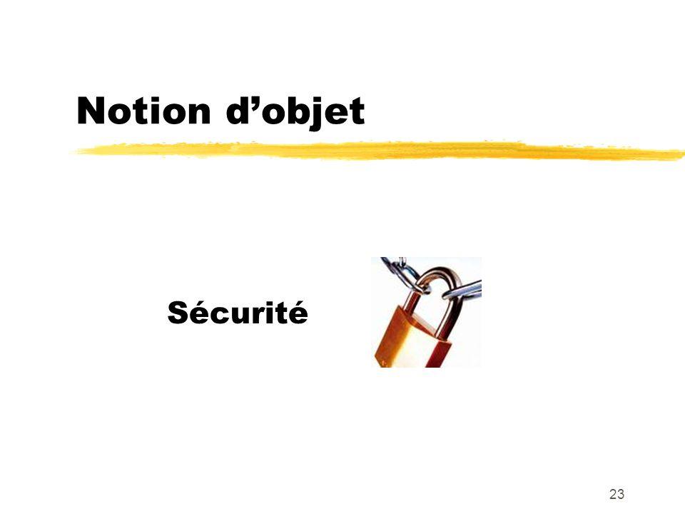 Notion dobjet Sécurité 23