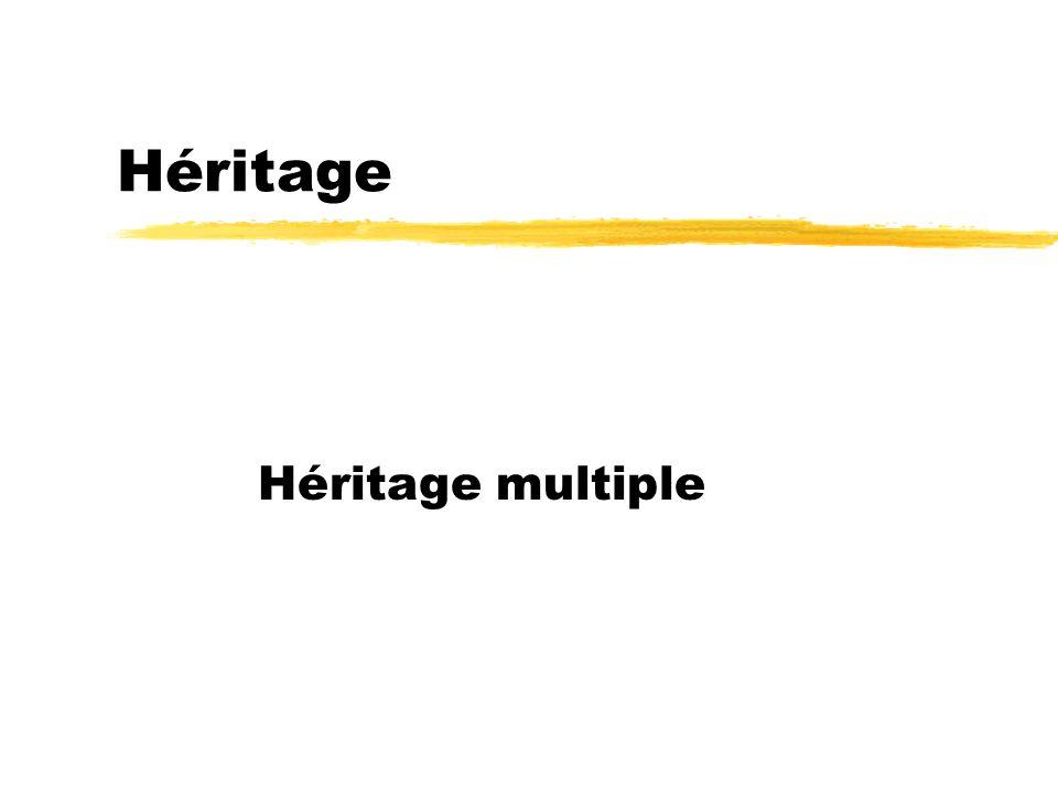 Héritage Héritage multiple