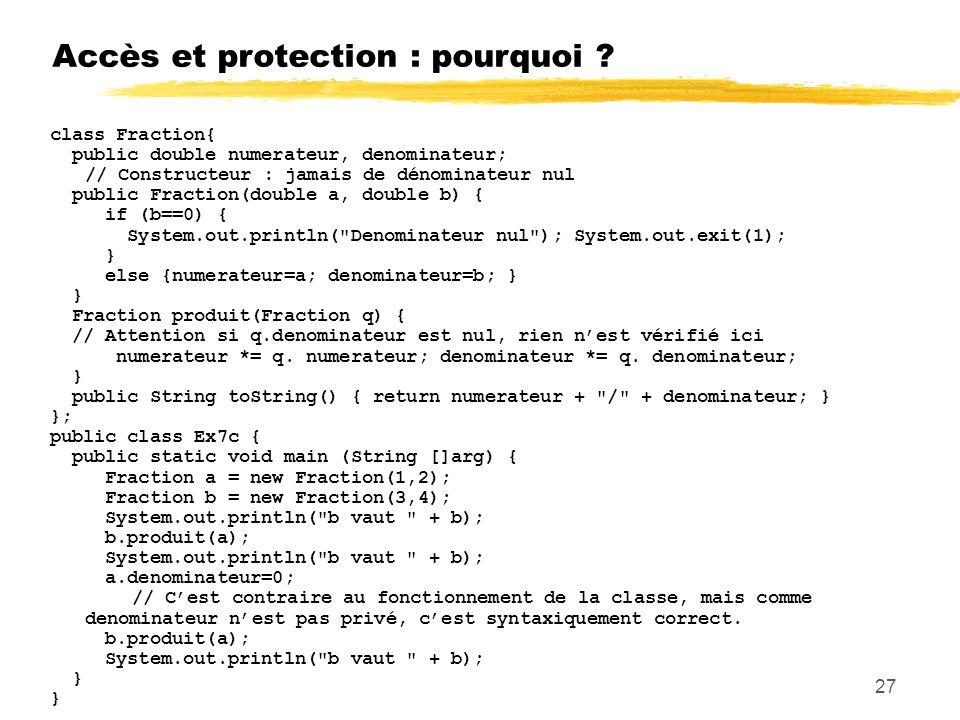 Accès et protection : pourquoi .