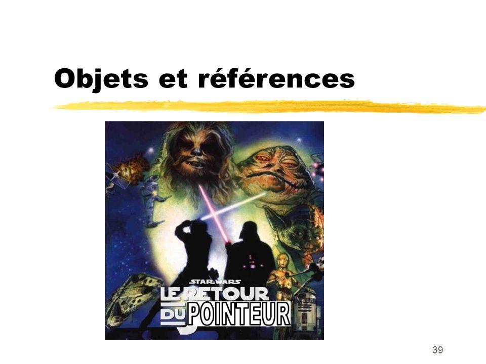 Objets et références 39