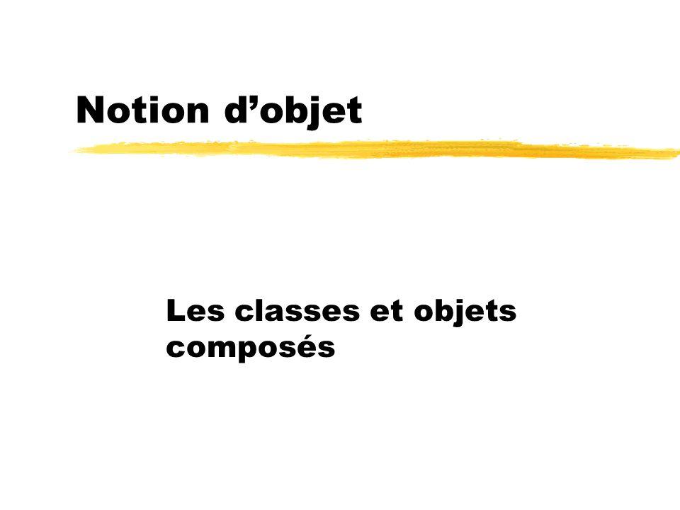 Notion dobjet Les classes et objets composés