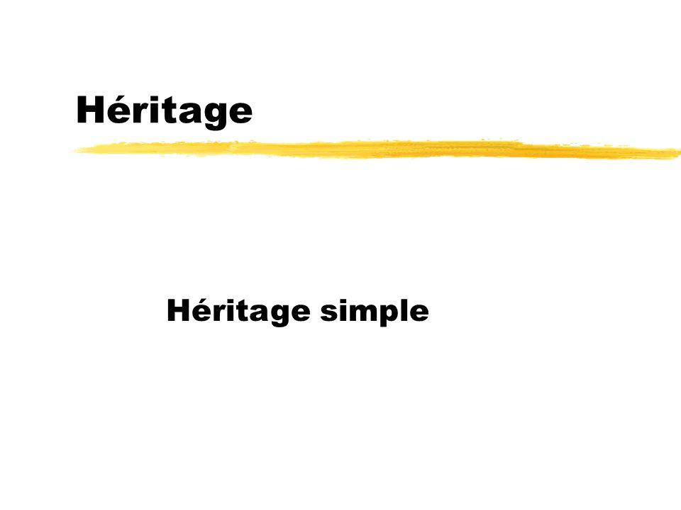 Héritage Héritage simple