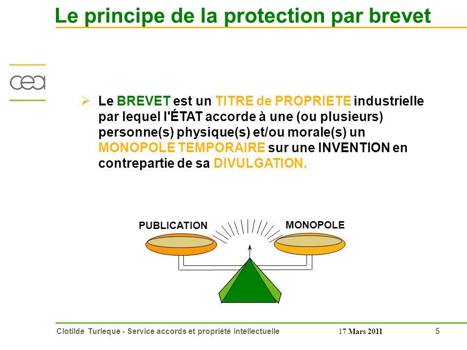 16 Clotilde Turleque - Service accords et propriété intellectuelle17 Mars 2011 Preuve de la qualité d inventeur Qui est propriétaire du brevet .