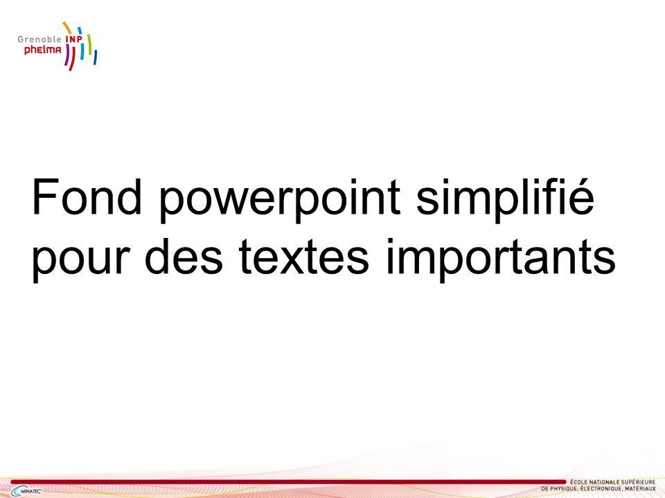 Fond powerpoint simplifié pour des textes importants