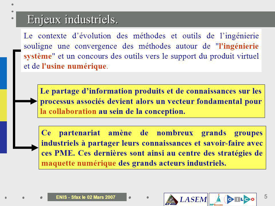 LASEM ENIS - Sfax le 02 Mars 2007 36 Déploiement du dialogue externe par lattribut des exigences Maintenance Marketing Production Attribut exigences 1 ……………………………………………… ……………………………………………… ……………………… Concepteur R&D Analyste Attribut exigences 2 ……………………………………………… ……………………………………………… ……………………… Concepteur Maintenance Contrôle Qualité R&D ________________________ ________________________ ________________________ ________________________ ________________________ _____ Document support Écriture et modification Consultation