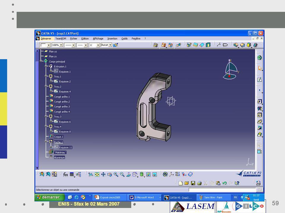 LASEM ENIS - Sfax le 02 Mars 2007 59