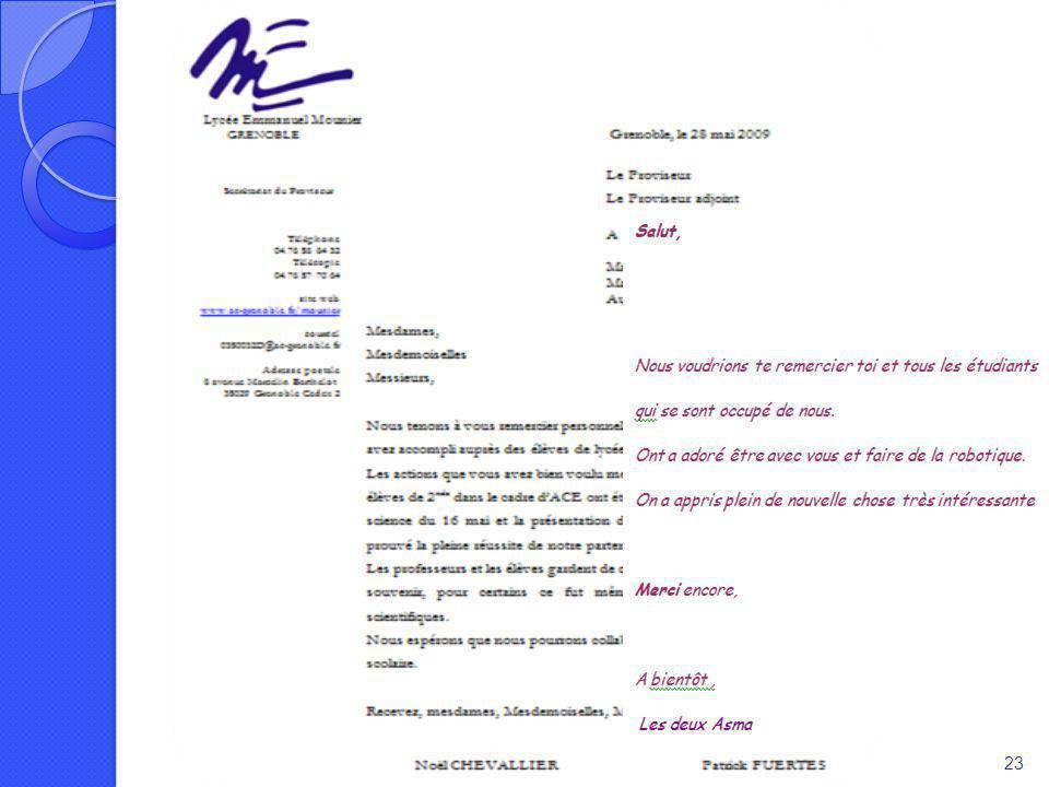 Retour sur le projet Réaction des partenaires associés: Direction de Mounier Témoignage dune élève Soutenance du 4 juin 200923