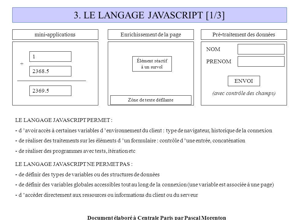 Document élaboré à Centrale Paris par Pascal Morenton 3.