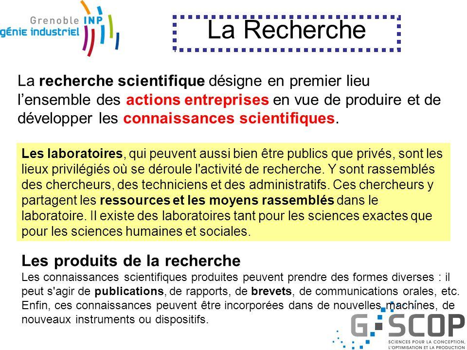 La Recherche en Génie Industriel
