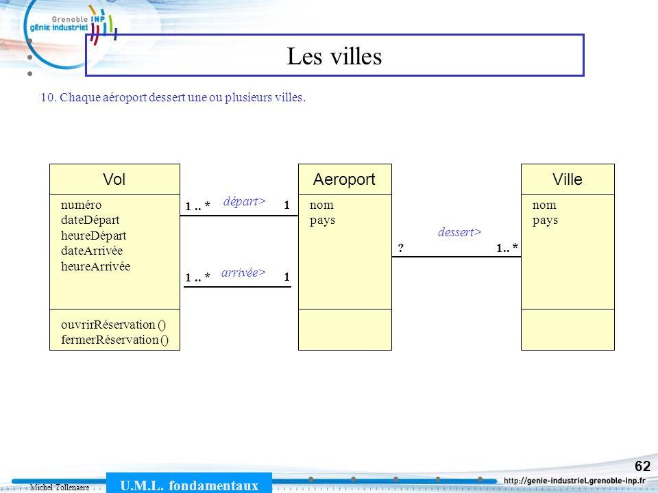 Michel Tollenaere U.M.L.fondamentaux 62 Les villes Vol 1 1..