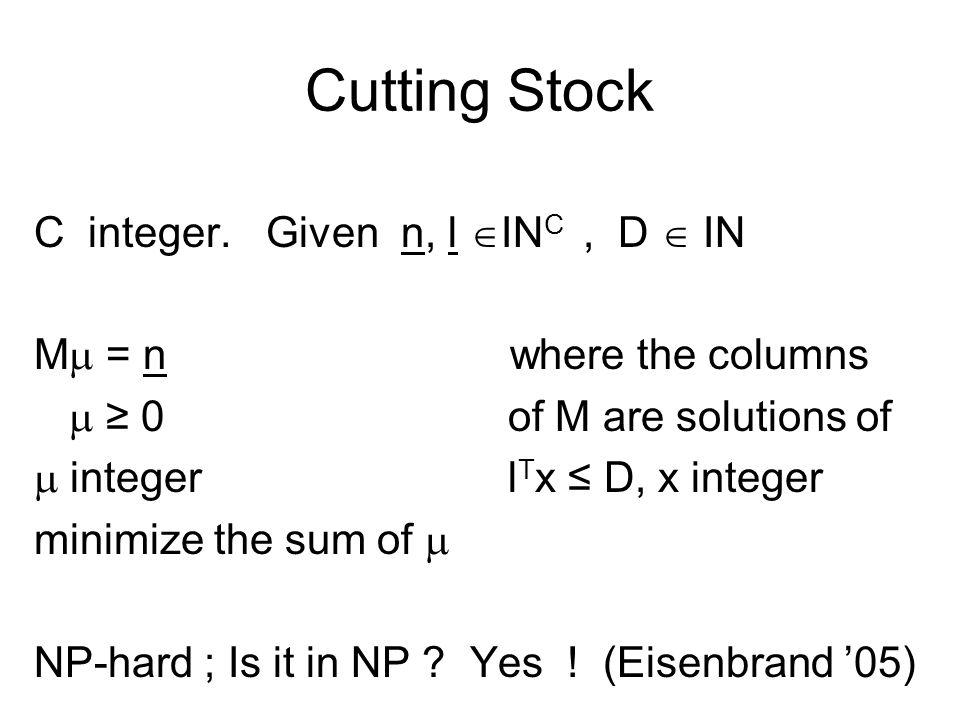 Trilling: le problème de limprimeur C modèles D poses imprimées sur le même film demandes: n i du modèle i (i=1, …, C).