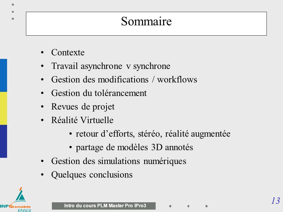 12 Intro du cours PLM Master Pro IPro3 SGDT - L ENTREPRISE ETENDUE Pascal Morenton / ECP