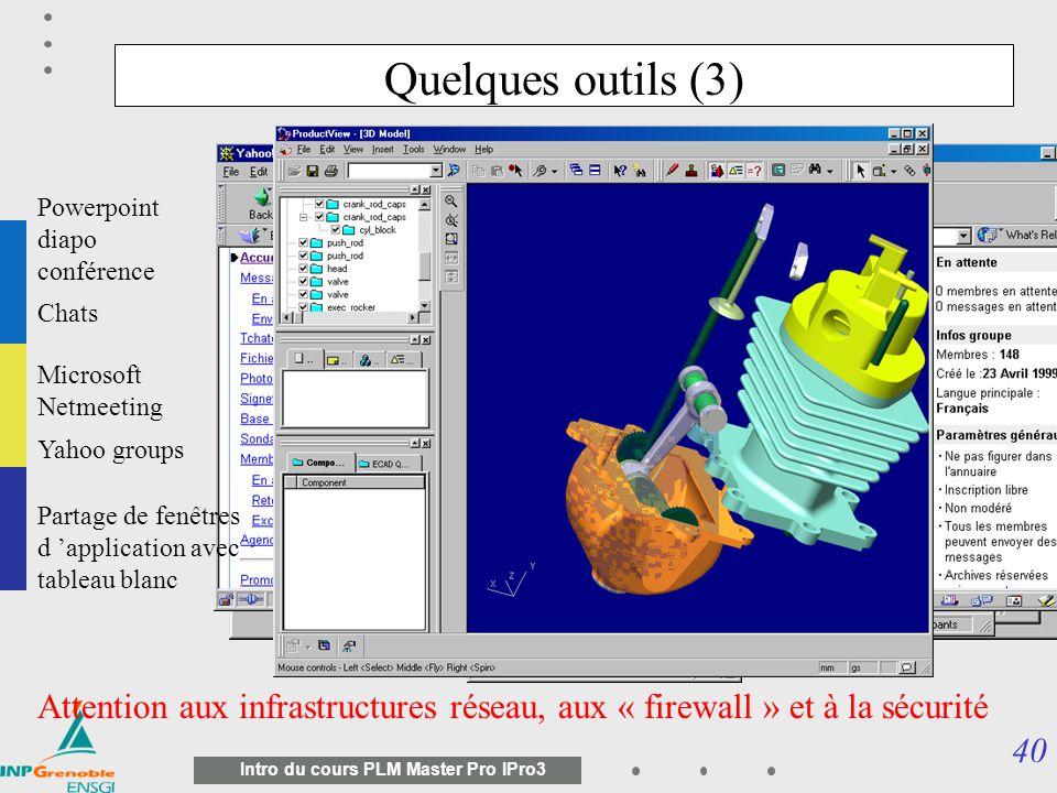 39 Intro du cours PLM Master Pro IPro3 Quelques outils (2) L annotation et corrections de documents