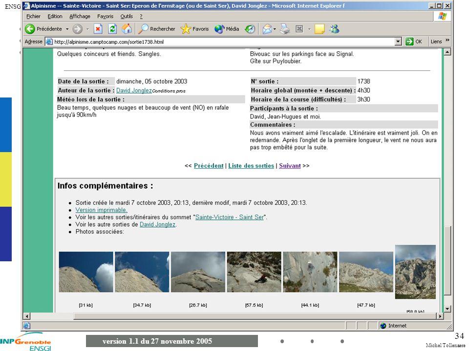 Michel Tollenaere version 1.1 du 27 novembre 2005 ENSGI 2A MSI - Démarche 34