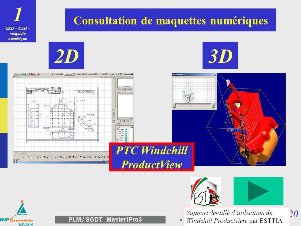 19 PLM / SGDT Master IPro3 1 GED – CAO – maquette numérique