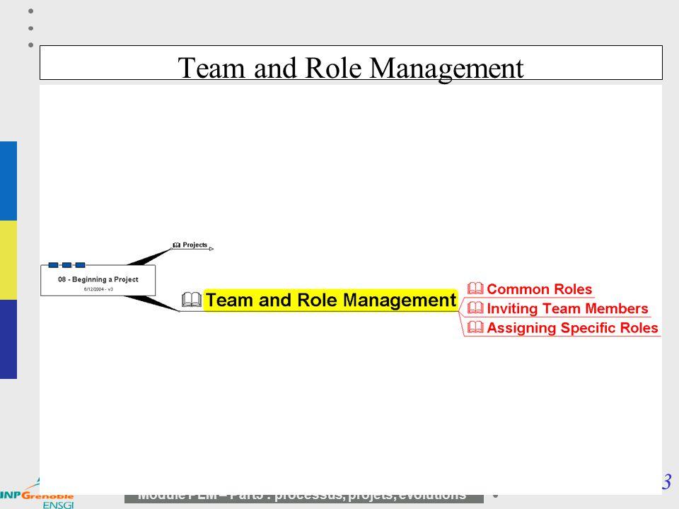 13 Module PLM – Part3 : processus, projets, évolutions Team and Role Management