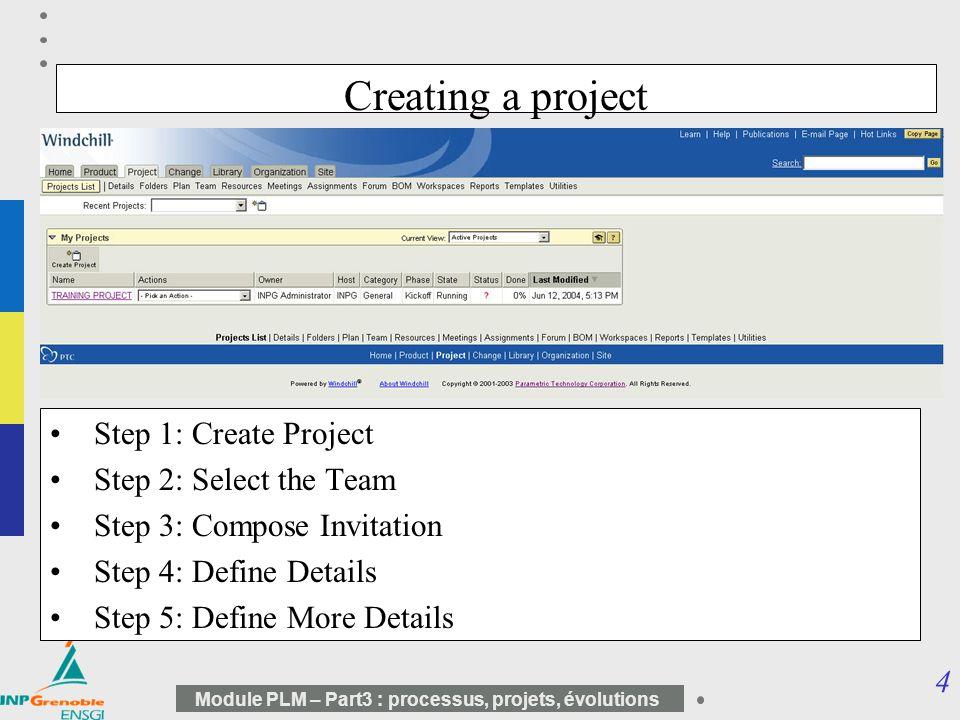 10 5 Module PLM – Part3 : processus, projets, évolutions Proposition LVE Avant LVE Arrière ABS 1 ABS 2 Variantes exclusives Implication Découpage fonctionnel Découpage structurel