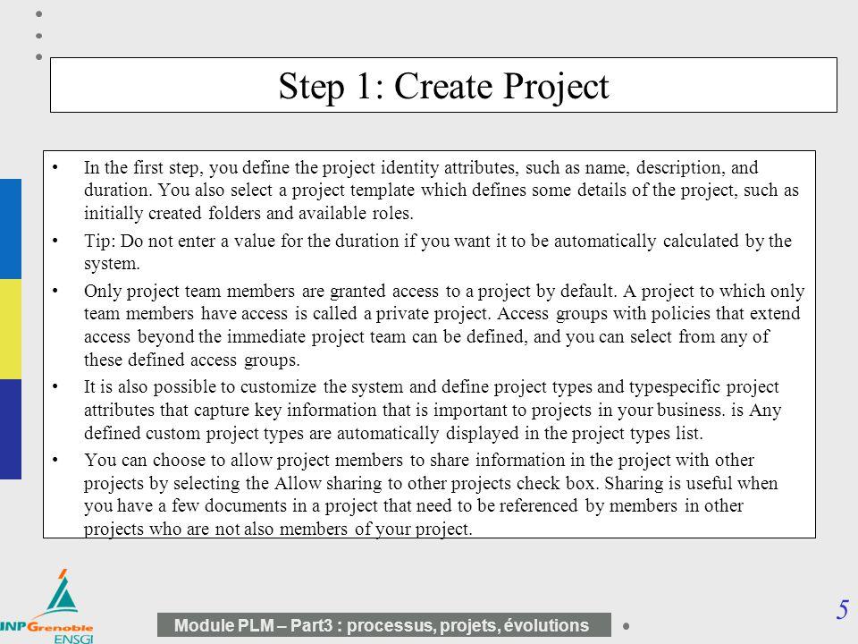 66 Module PLM – Part3 : processus, projets, évolutions