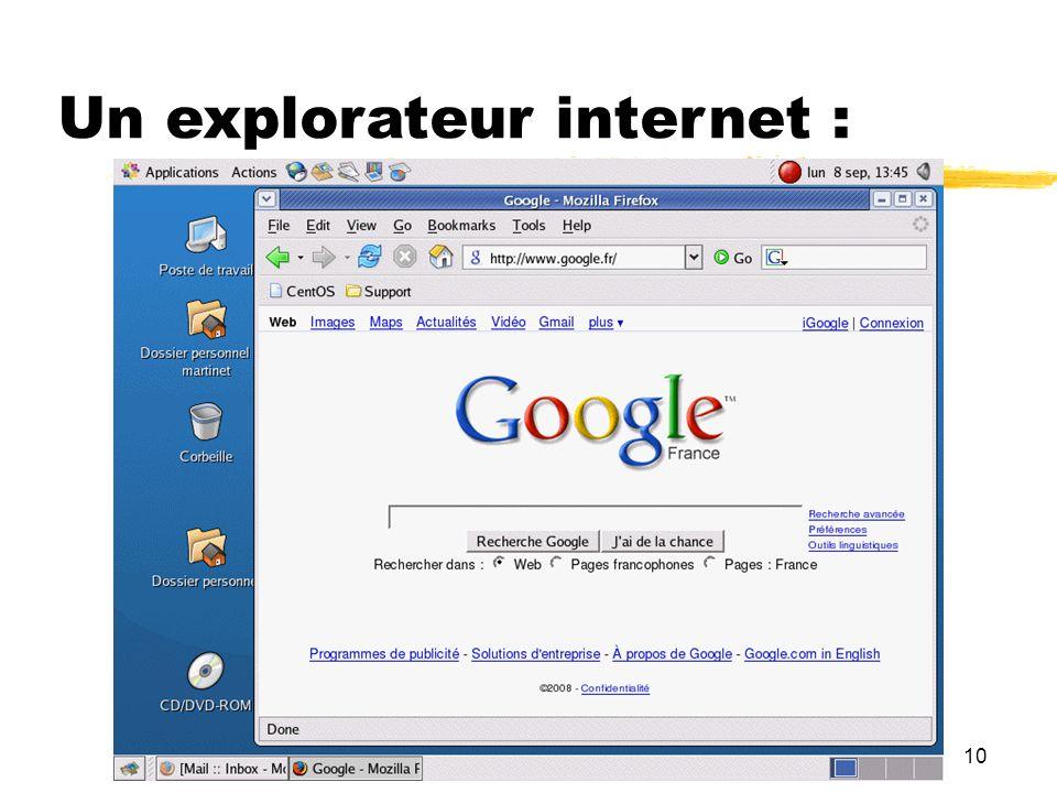 10 Un explorateur internet :