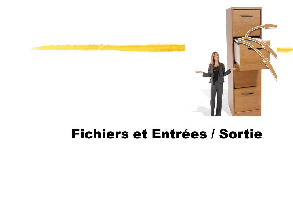 Fichiers et Entrées / Sortie