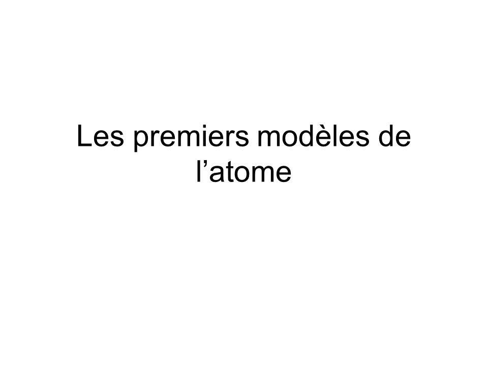 Les premiers modèles de latome
