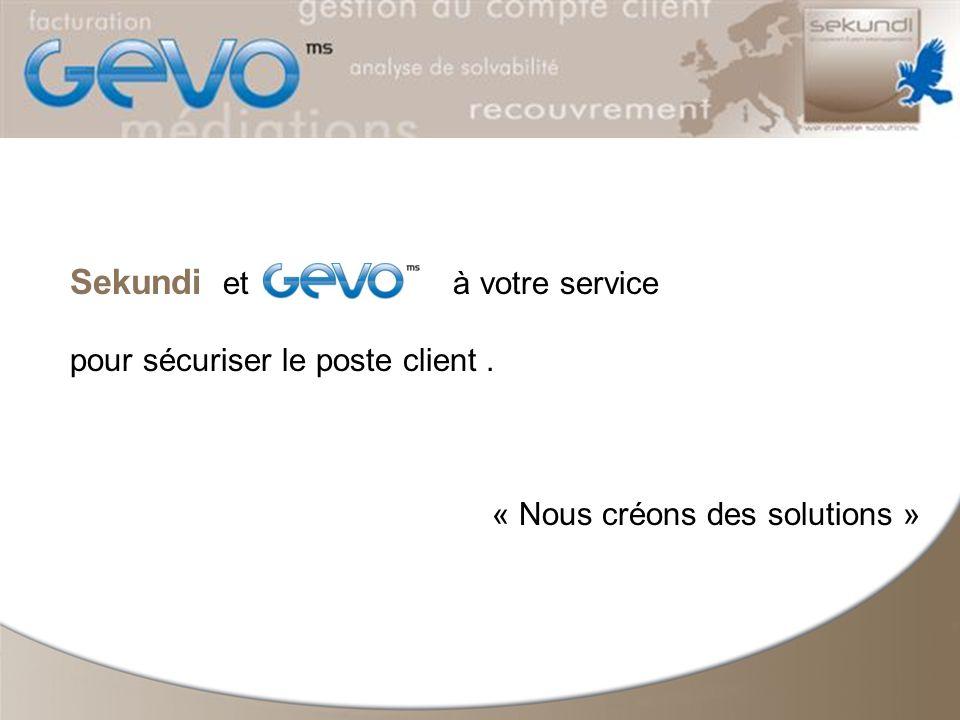 Sekundi et à votre service pour sécuriser le poste client. « Nous créons des solutions »
