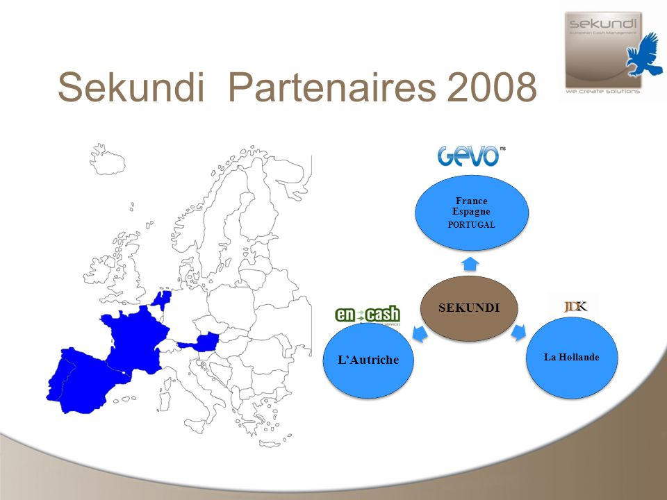 Sekundi Partenaires 2008 SEKUNDI France Espagne PORTUGAL La Hollande LAutriche