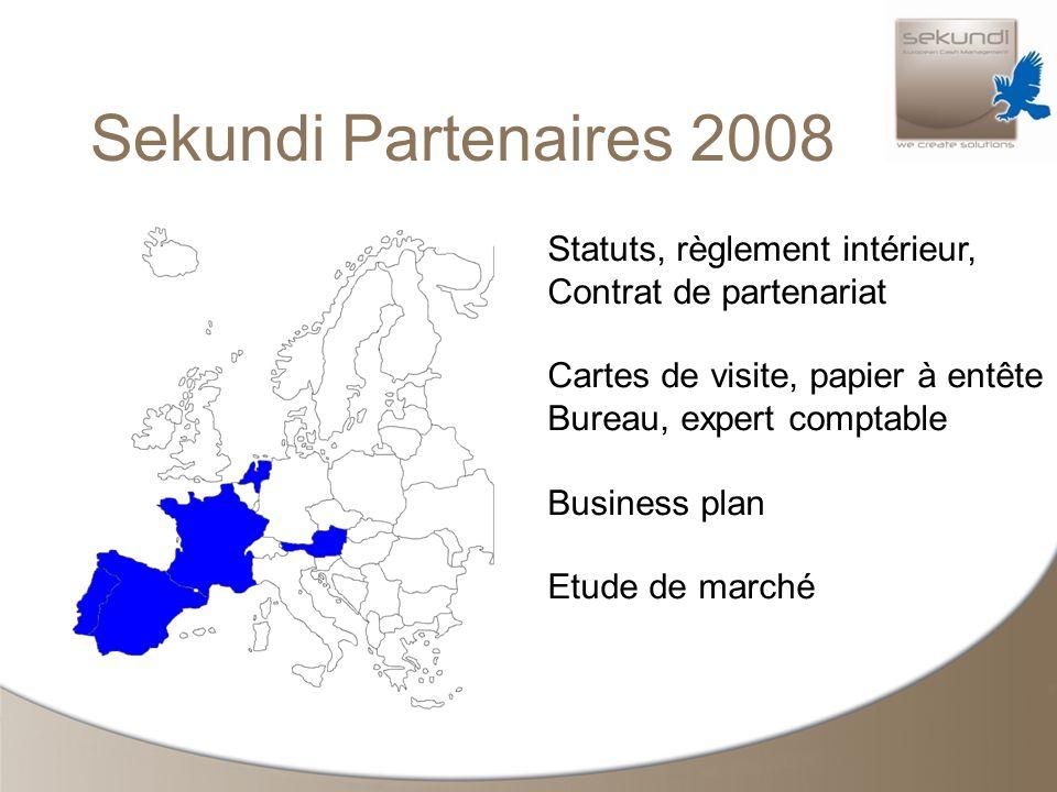 Sekundi Partenaires 2008 Statuts, règlement intérieur, Contrat de partenariat Cartes de visite, papier à entête Bureau, expert comptable Business plan Etude de marché