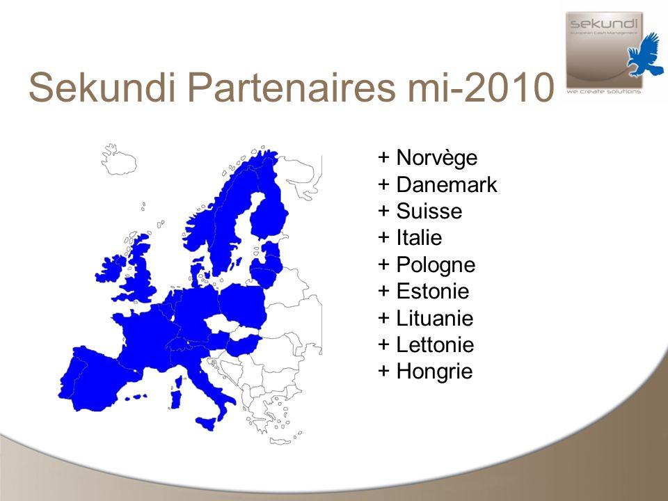 Sekundi Partenaires mi-2010 + Norvège + Danemark + Suisse + Italie + Pologne + Estonie + Lituanie + Lettonie + Hongrie
