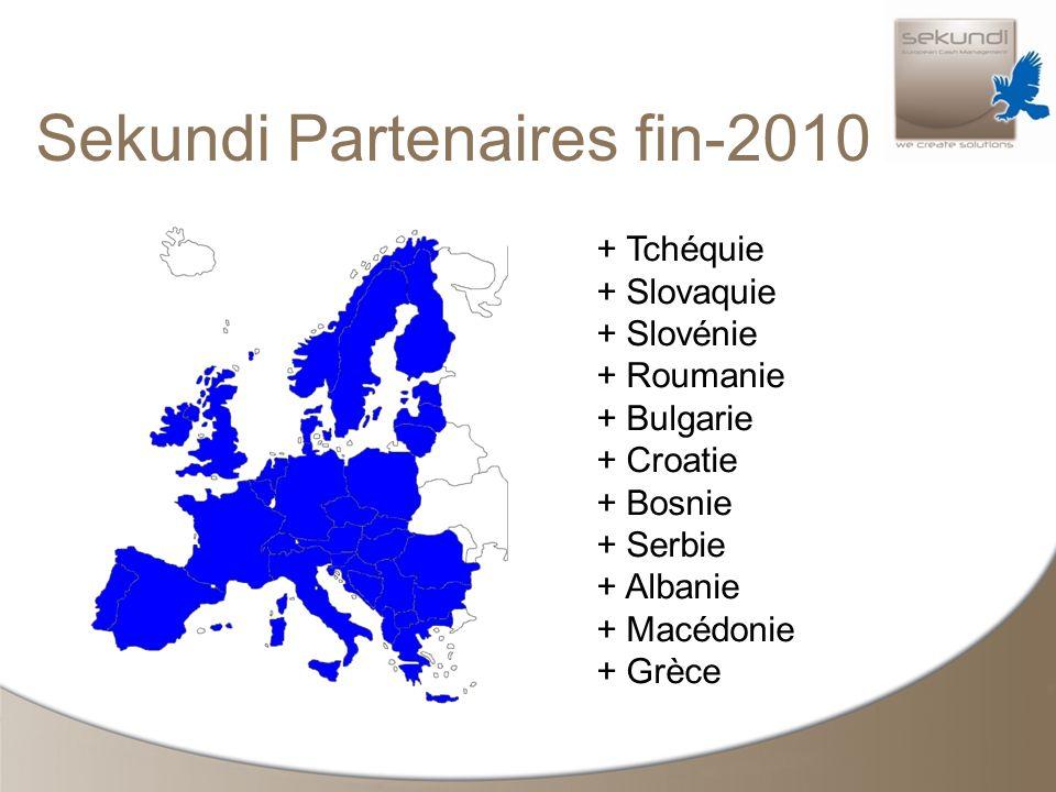 Sekundi Partenaires fin-2010 + Tchéquie + Slovaquie + Slovénie + Roumanie + Bulgarie + Croatie + Bosnie + Serbie + Albanie + Macédonie + Grèce