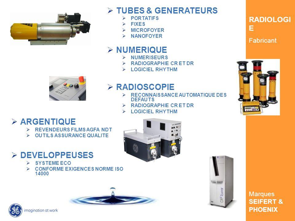 GE Inspection Technologies RADIOLOGI E Fabricant Marques SEIFERT & PHOENIX TUBES & GENERATEURS PORTATIFS FIXES MICROFOYER NANOFOYER NUMERIQUE NUMERISEURS RADIOGRAPHIE CR ET DR LOGICIEL RHYTHM RADIOSCOPIE RECONNAISSANCE AUTOMATIQUE DES DEFAUTS RADIOGRAPHIE CR ET DR LOGICIEL RHYTHM ARGENTIQUE REVENDEURS FILMS AGFA NDT OUTILS ASSURANCE QUALITE DEVELOPPEUSES SYSTEME ECO CONFORME EXIGENCES NORME ISO 14000