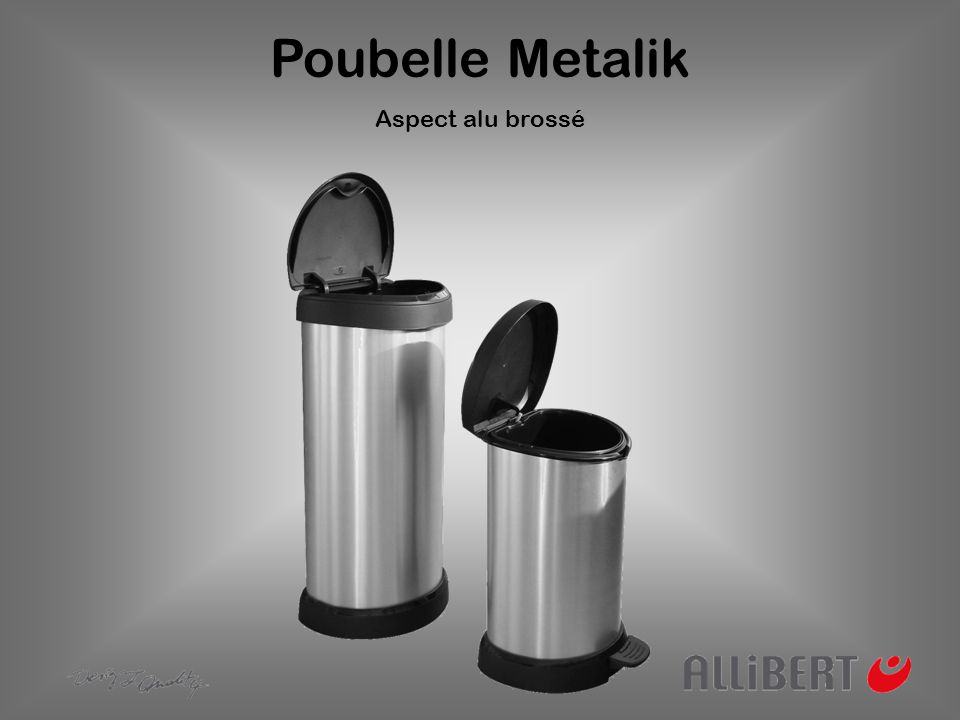 Poubelle Metalik Un design étudié pour conjuguer fonctionnalité et esthétique Un design ovale original et fonctionnel.
