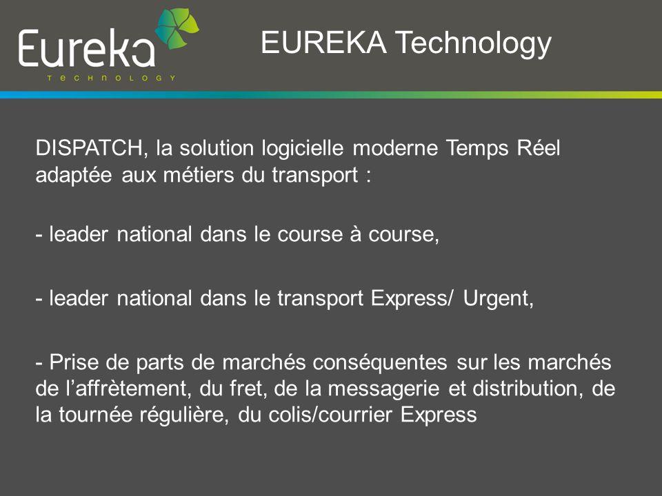 EUREKA Technology Notre culture de « lUrgence », Notre maîtrise technique et nos outils modernes nous ont appris à gérer sereinement les problématiques :.